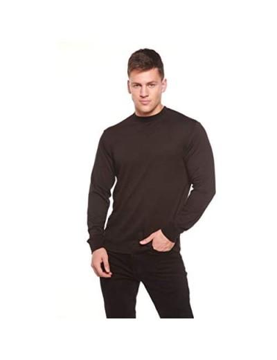Spun Bamboo Men's Bamboo Viscose Long Sleeve T-Shirt - UPF 50+ UV Protection Comfort Breathable