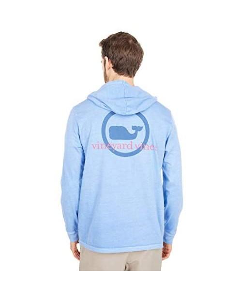Vineyard Vines Men's Long Sleeve Garment Dyed Whale Dot Hoodie T-Shirt