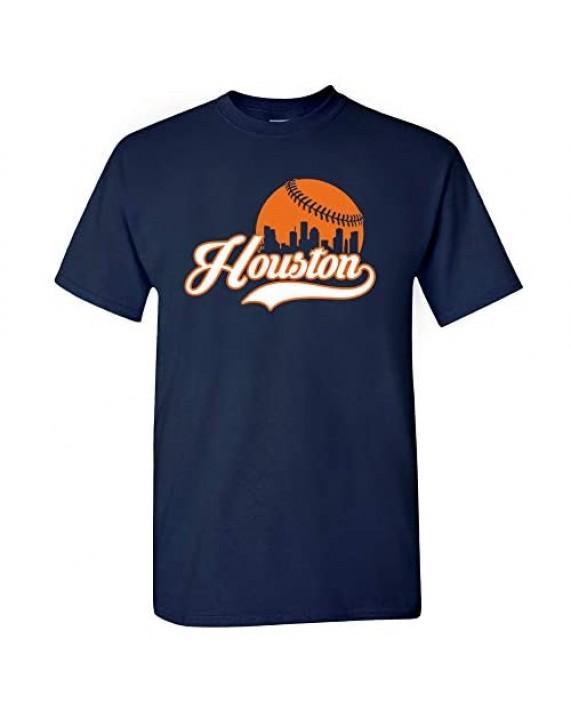 Xtreme Apparrel Houston City Baseball Skyline Htown Shirt