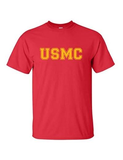 zerogravitee USMC Athletic Gold Adult Short Sleeve T-Shirt