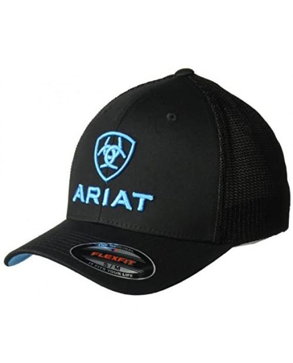 ARIAT Men's Black Blue Half Mesh Hat
