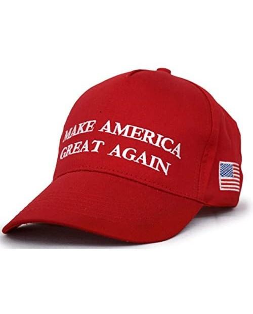 Besti Donald Trump 2020 Keep America Great Cap Adjustable Baseball Hat with USA Flag - Breathable Eyelets