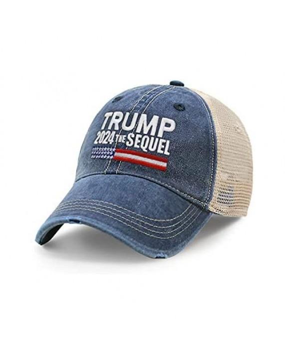 CHOK.LIDS Trump 2024 Campaign Rally Embroidered US Trump MAGA Hat Baseball Trucker Cap TC10