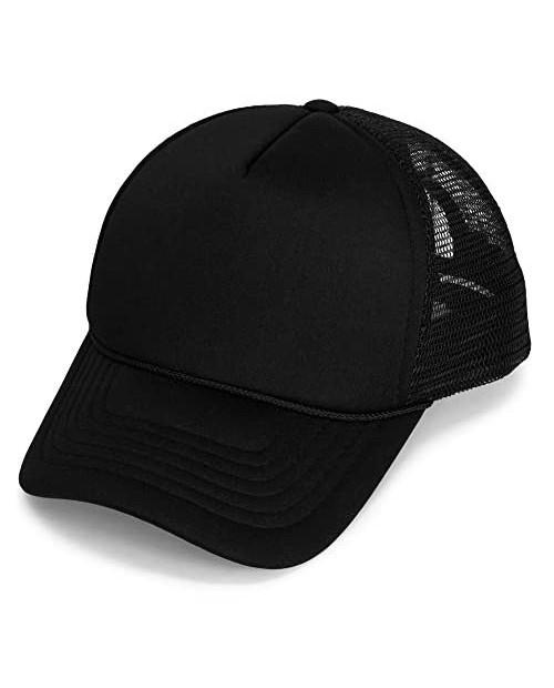 DALIX Youth Mesh Trucker Cap - Adjustable Hat (S M Sizes)