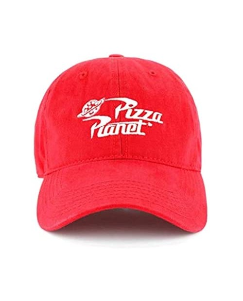 Disney Pixar Toy Story Pizza Planet Delivery Delivery Adjustable Baseball Snapback Cap Hat Red Medium