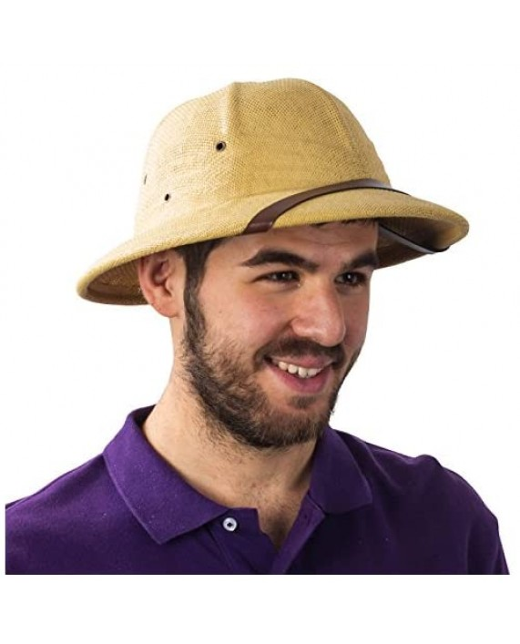 Funny Party Hats Pith Hat – Pith Hat Helmet – Safari Hats – Adult Costume Hats – French Pith Hat Beige