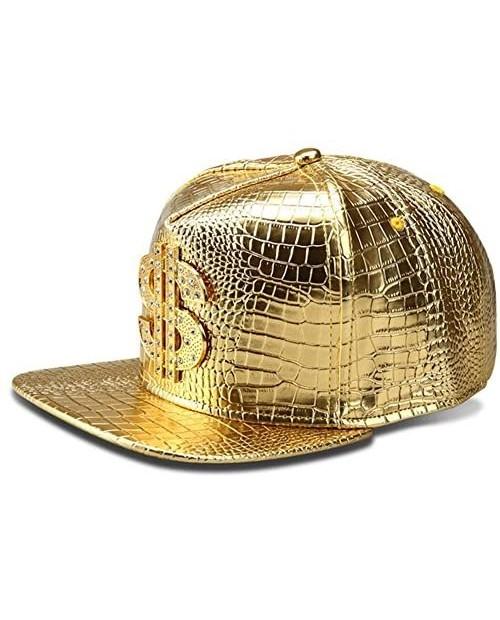 Hip Hop Hat Flat-Brimmed Hat Rock Cap Adjustable Snapback Hat for Men and Women