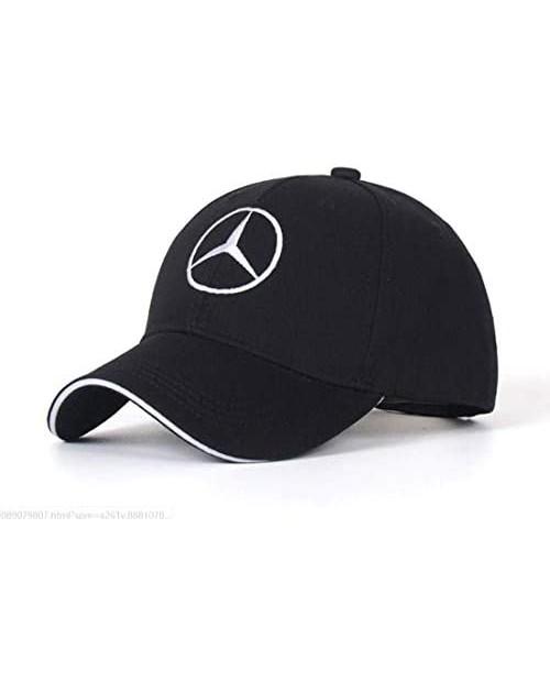 Xunyuan Car Logo hat Adjustable Baseball Black Hat Unisex Hat Travel Cap Car Racing Motor Cap