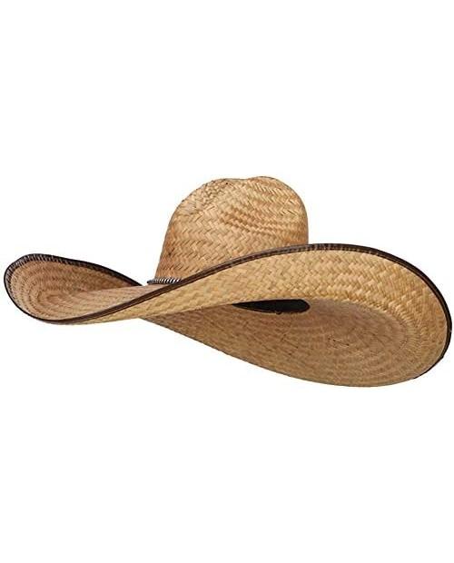 7 Inch Brim Light Straw Cowboy Hat Sun Hat