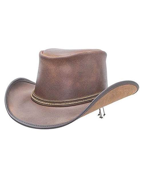 American Hat Makers Reno Leather Cowboy Hat with 2 Cord Band — Handcrafted