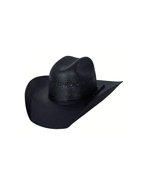 "Bullhide Black Gold 10x Linen Straw Western Cowboy Hat 4"" Brim Black"