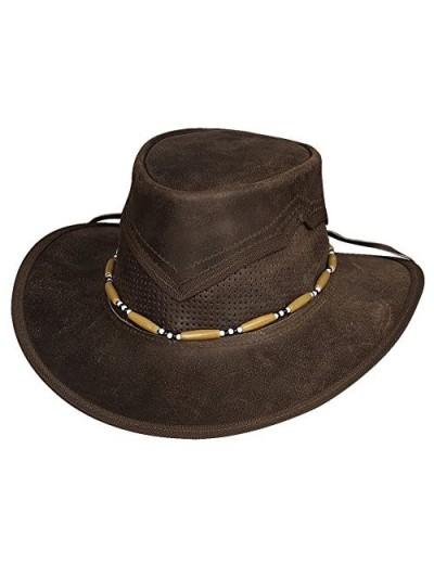 "Bullhide ""Kanosh Leather Outback Hat 4049DBR"
