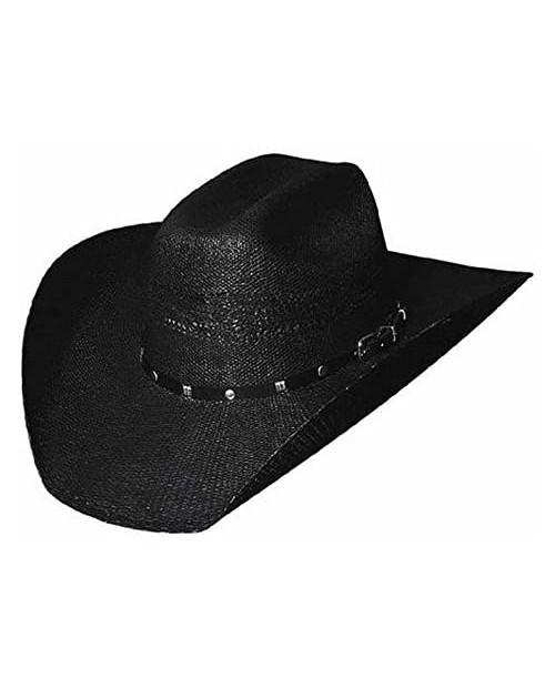 Bullhide Montecarlo Hats - Black Arrow - 20X Bangora Straw Western Cowboy Hat