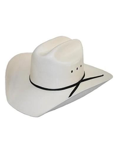 CTM Men's White Canvas Cowboy Western Hat