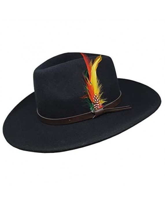 Different Touch Outback Crushable Wool Cowboy Wide Brim Western Hats