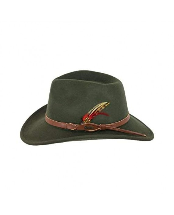 Outback Trading Company Men's 1321 Randwick Water-Repellent Crushable UPF 50 Australian Wool Western Cowboy Hat