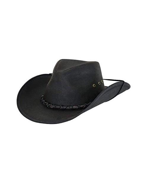 Outback Trading Men's 1484 Bootlegger UPF 50 Waterproof West Cotton Oilskin Hat