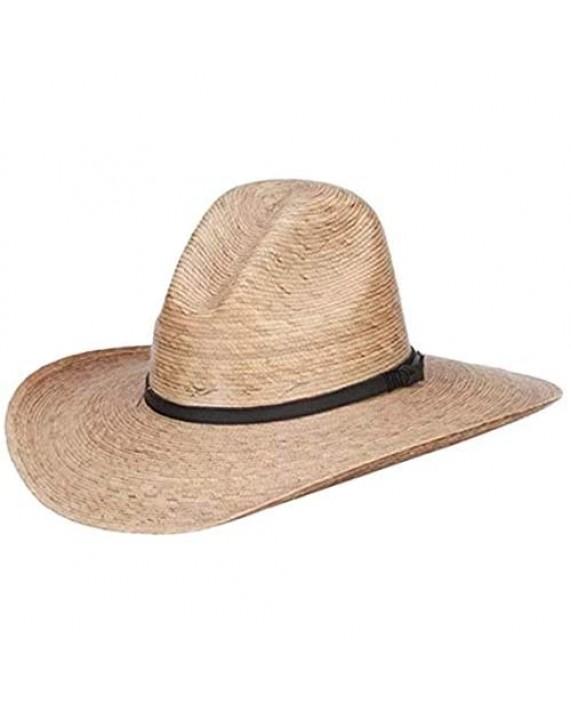 Palm Braid Ranchero Cowboy Hat Palm Leaf Wide Brim Cowgirl Hat Sombreros Vaqueros para Hombre
