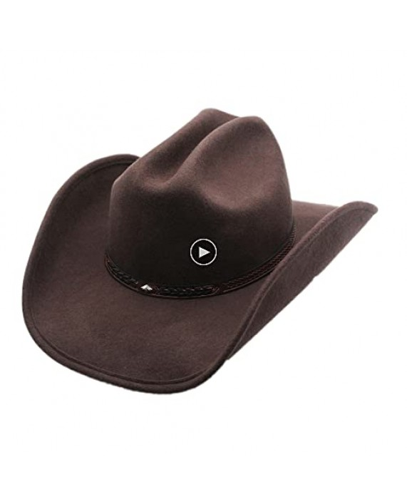 Shapeable Cattleman Cowboy Western Wool Hat Silver Canyon