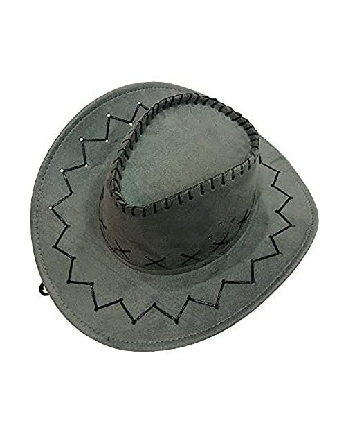 Sohapy Western Cowboy Hat with Adjustable Cord Fancy Dress Costumes Accessory Wide Brim Unisex Hats Great for Role Play