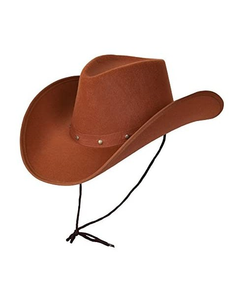 Wicked Costumes Adult Texan Cowboy Hat Brown Fancy Dress Party Accessory Country Western Rancher