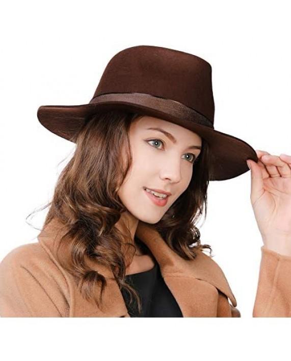 1920s 100% Wool Felt Homburg Gangster Fedora Manhattan Derby Hat Unisex 55-60CM