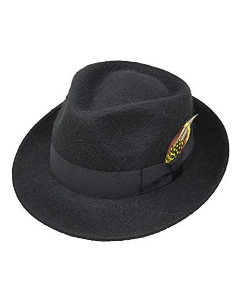 Alpaca Doyle - Teardrop Fedora Hat - Premium Alpaca Wool Felt - Crushable for Travel - Water Resistant - Unisex