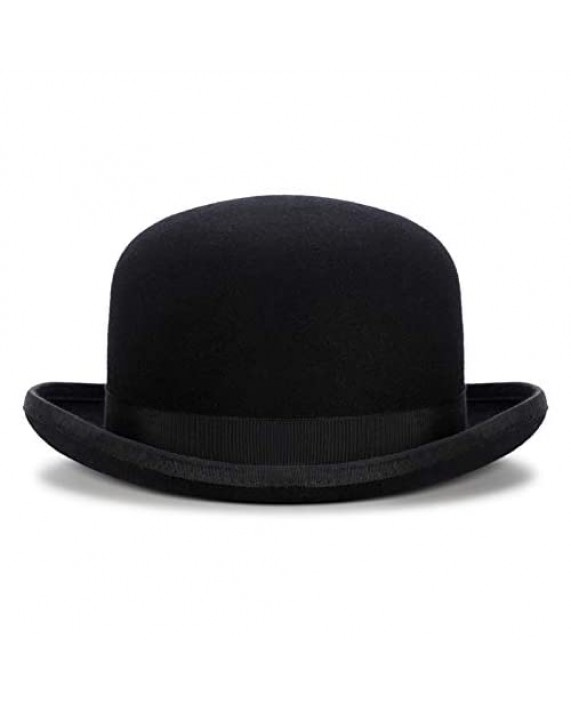 Black Derby Hat Cousin It Men's Bowel Hats Mary Poppins Halloween New Year Costume Party Accessory