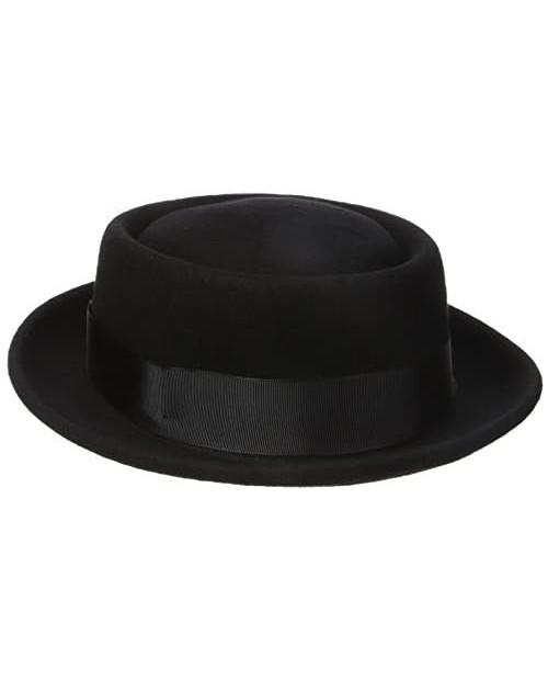 Henschel Men's 100% Wool Felt Porkpie Hat and Grosgrain Ribbon Band and Bow