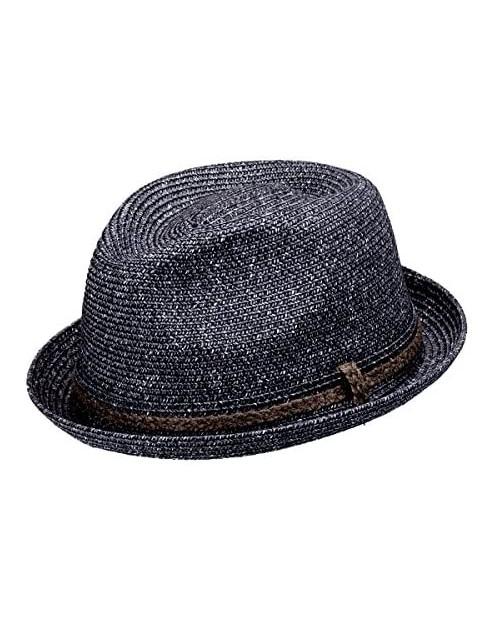 Peter Grimm Tiller Knit Upturn Fedora Hat Black