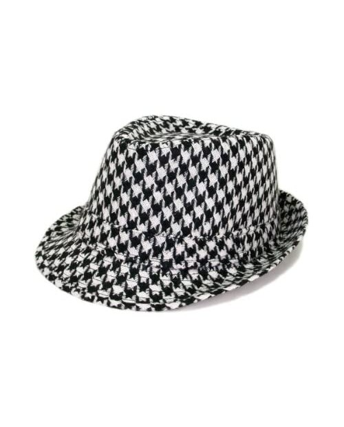 Unisex Classic Houndstooth Fedora Hat Available
