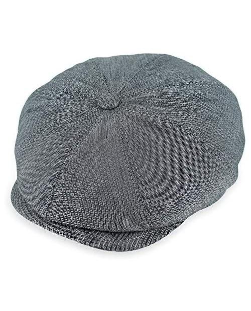 Belfry Made in Italy Baccio Flat Cap Mens Ivy Newsboy 100% Cotton Grey