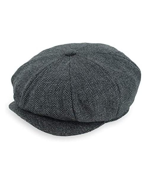 Belfry Newsboy Gatsby Men's Women's Soft Tweed Wool Cap in 8 Colors