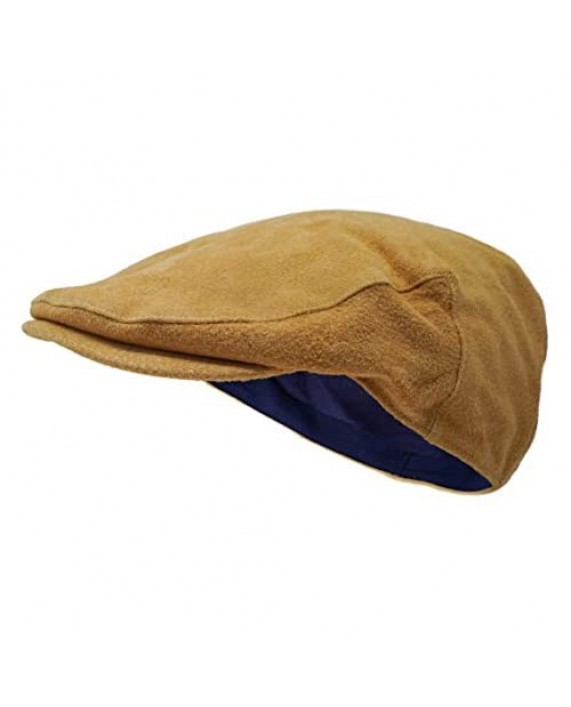Borges & Scott The Tanner - Leather Flat Cap - Soft Pigskin and Cotton Lined Cap
