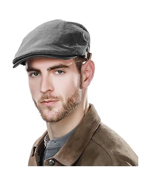 Comhats Winter Cotton Newsboy Hats for Men Duckbill Cap