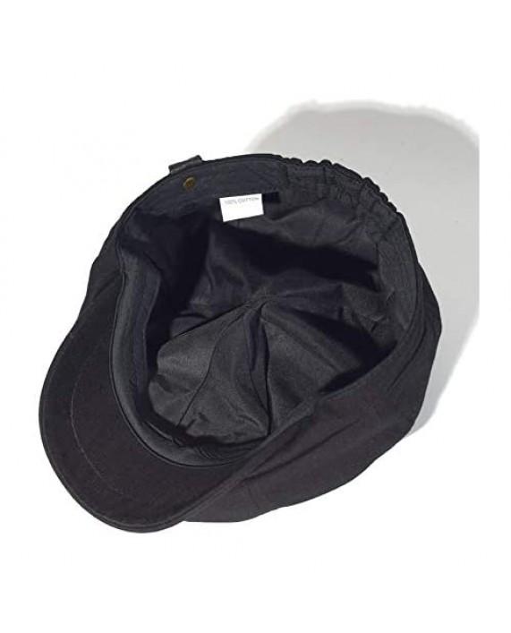 Croogo Men's 8 Piece Newsboy Hat Herringbone Flat Cap Ivy Ascot Beret Hat Octagonal Golf Hats