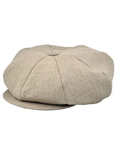 Emstate Linen 8 Panel Applejack Newsboy Cap Made in USA Many Solid Colors and Patterns