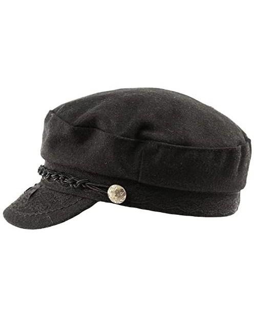 Epoch hats Men's Greek Fisherman Sailor Fiddler Winter Wool Driver Hat Flat Cap