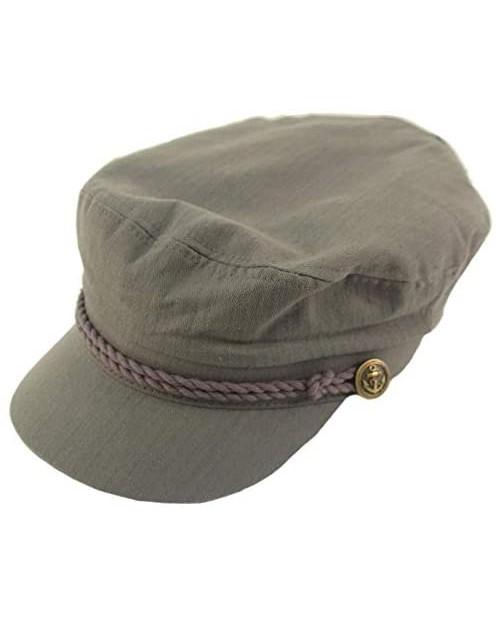 Epoch Men's Summer Cotton Greek Fisherman Sailor Fiddler Driver Hat Flat Cap