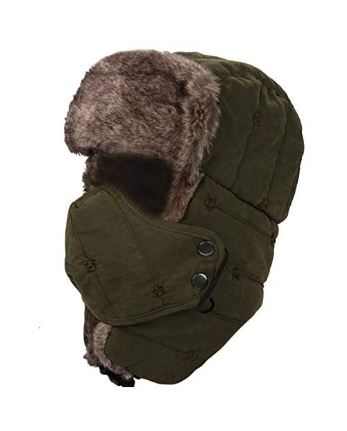 M MOACC Winter Trooper Hat Hunting Cap Thick Cotton Knit Ivy Gatsby Driving Newsboy Hat for Men and Women