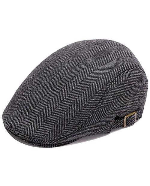 Men's Newsboy Gatsby Hat Wool Blend Flat Ivy Cabbie Driving Cap