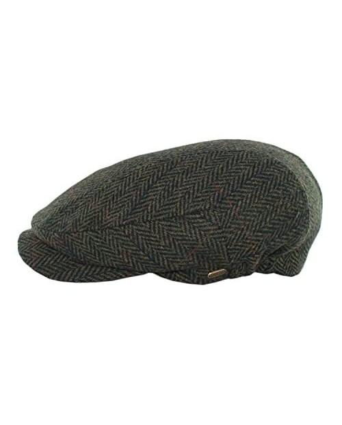 Mucros Weavers Kerry Cap Irish Hat for Men Herringbone Wool Driver Cap
