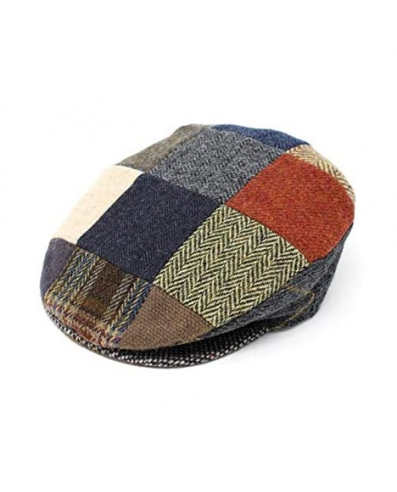 Patchwork Cap Tweed Hand Sewn Donegal Town Hanna Hats Ireland S