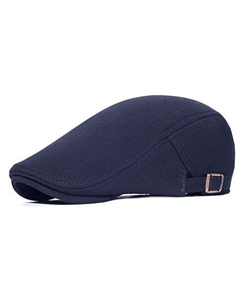 PUZAMA Men's Newsboy Cap Cotton Vintage Beret Soft Flat Cap Ivy Gatsby Driving Hat Cabbie Hunting Cap