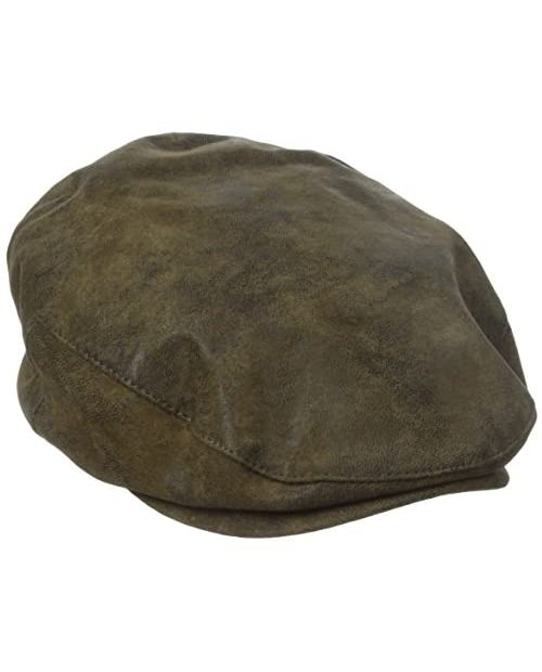 Stetson Men's Weathered Leather Ivy Cap