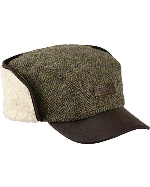 Stormy Kromer The Bergland Cap in Harris Tweed Men's Winter Guide Hat with Ear Flaps