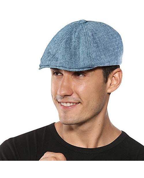 Sumolux Mens Newsboy Cap Spring Summer Beret Hat Cabbie Flat Cap