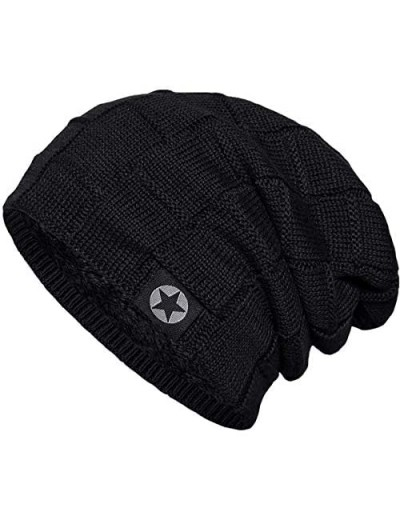 Bodvera Winter Knit Warm Hat Thick Soft Stretch Slouchy Beanie Skully Cap for Men and Women
