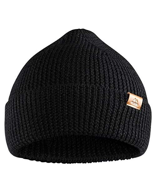 DANISH ENDURANCE Classic Merino Wool Beanie for Men & Women Soft Unisex Cuffed Plain Knit Hat with Recycled Materials