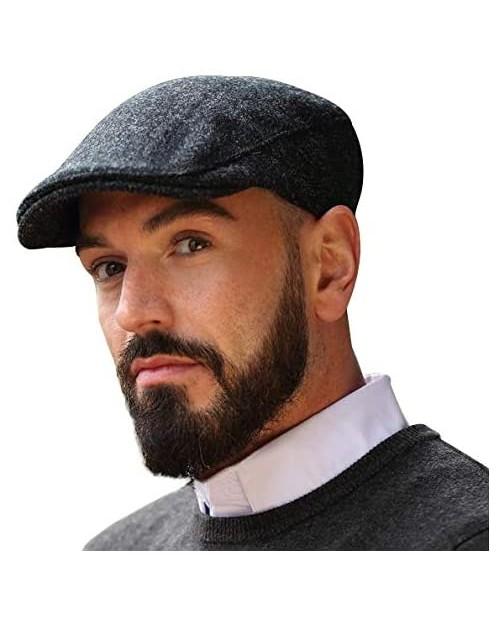 Irish Ivy Cap 100% Pure Irish Wool Made in Ireland Dark Gray
